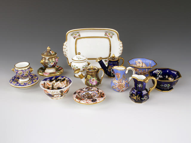A group of Spode miniatures, circa 1820-30