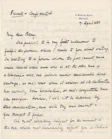 POLITICS. Letters addressed to the Liberal politician, colonial governor and educationalist Donald James Mackay, Lord Reay