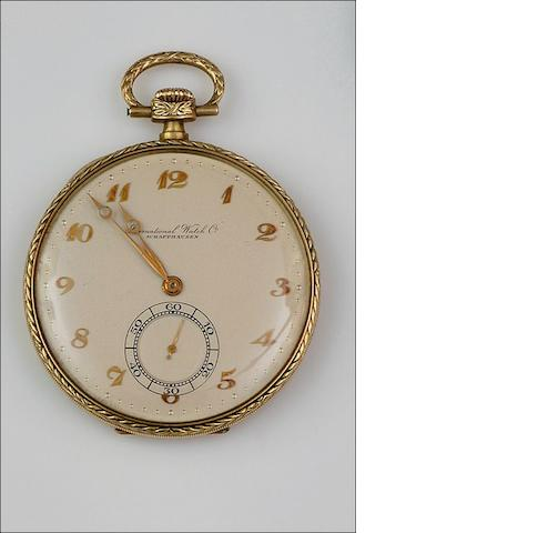 International Watch Co: An open face pocket watch