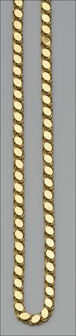 A yellow precious metal fancy-link necklace