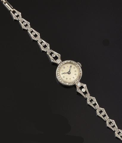 A lady's diamond set wristwatch