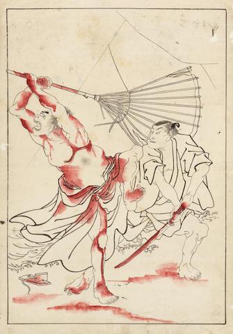 Attributed to Tsukioka Yoshitoshi (1839-1892) Mid/late 19th century