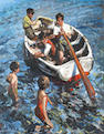 Sherree Valentine-Daines (British, born 1956) Fun in the Thames