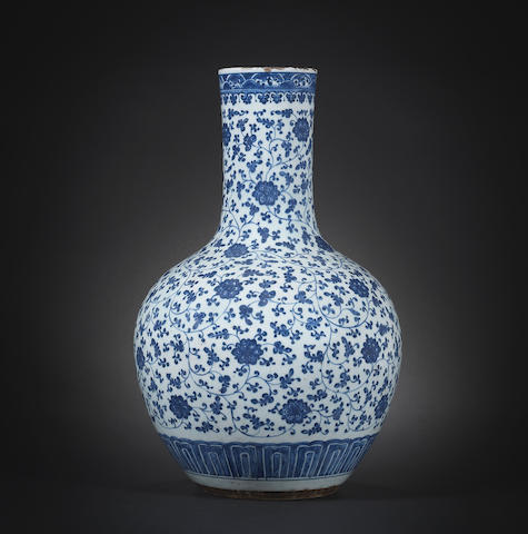 A Chinese Blue And White Porcelain Vase, 18th/19thCentury