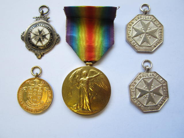 Medals to Private H.Donkin, late Northumberland Fusiliers,