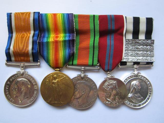 Five to E.F.Bell, St.John Ambulance Brigade, late Voluntary Aid Detachment,