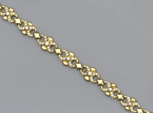An 18ct gold and diamond set bracelet