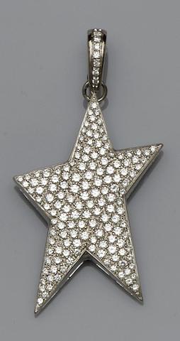 A diamond star pendant
