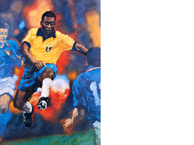 Limited edition print hand signed by Pele