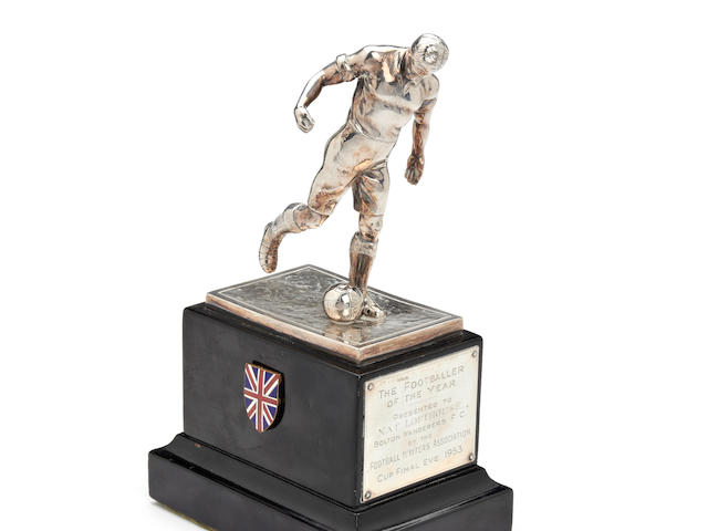 1953 English Football Writers Association Footballer of the Year trophy awarded to Nat Lofthouse