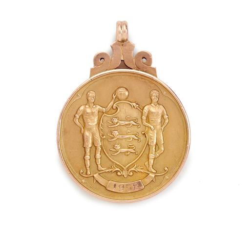 1958 F.A. Cup winners medal awarded to Nat Lofthouse