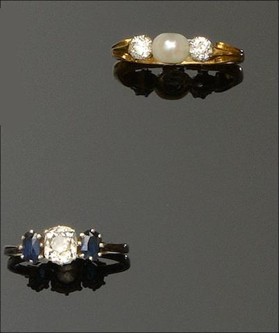 A collection of six gem set rings (6)