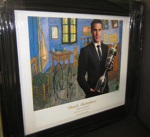 'Dutch Masterpiece' Robin Van Persie hand signed lithograph