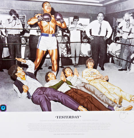 'Yesterday' Muhammad Ali/Beatles limited edition lithograph