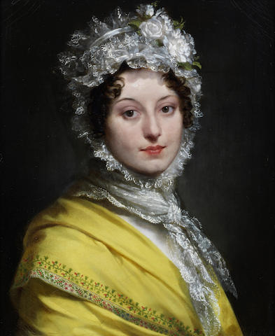 Pierre-Paul Prud'hon (French, 1758-1823) Portrait of Louise de Guéhéneuc, duchesse de Montebello (1782-1856),