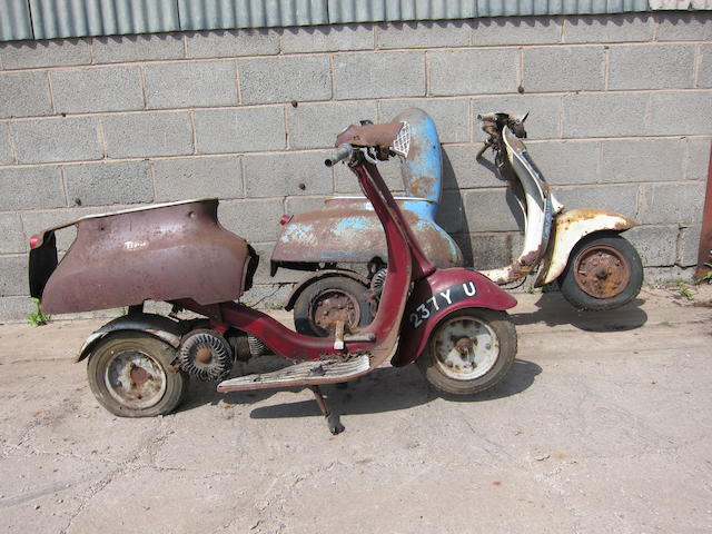 1963 Triumph 100cc Tina Scooter Project Frame no. LS14372 Engine no. LS14372