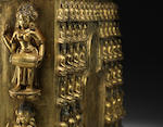 A fine and very rare gilt-bronze Densatil 'Buddha' frieze Ming dynasty, 14th / 15th century