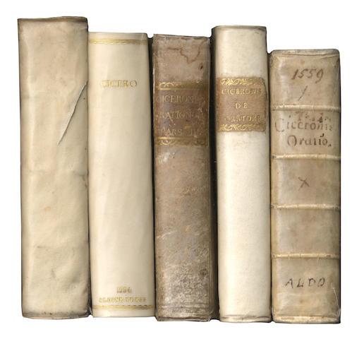 PARISETUS (LUDOVICUS) De divina in hominem benevolentia, Venice, Paulus Manutius, 1552 and 4 others, Aldine 1550s (5)