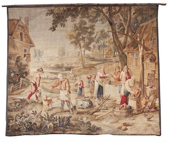 An 18th century Brussels tapestry banner After David Tenyers the younger