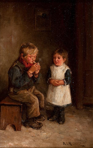 Robert Gemmell Hutchison, RSA RBA ROI RSW (British, 1855-1936) His First Smoke