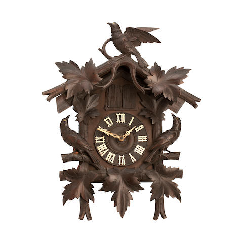 A late 19th century Black Forest musical cuckoo clock