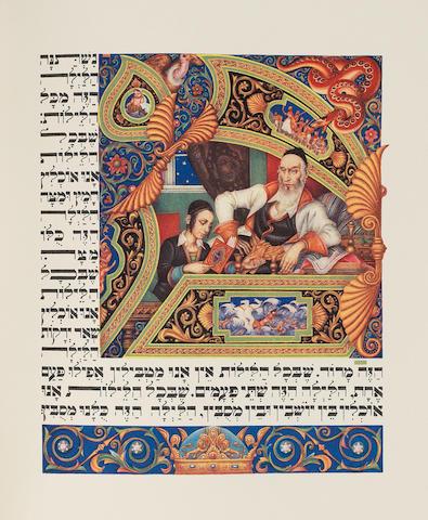 HAGGADAH - ARTHUR SYZK. The Haggadah. Executed by Arthur Szyk, 1939