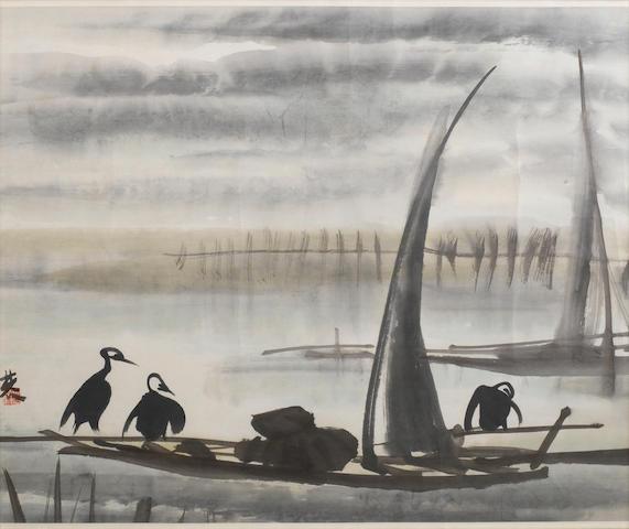 Lin Fengmian (1900-1991) Cormorant fishing