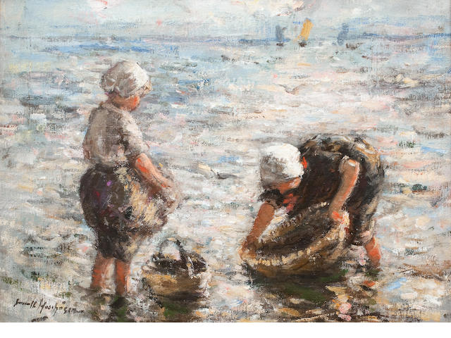 Robert Gemmell Hutchison, RSA RBA ROI RSW (British, 1855-1936) The Young Fishers 24 x 34.5 cm. (9 7/16 x 13 9/16 in.)