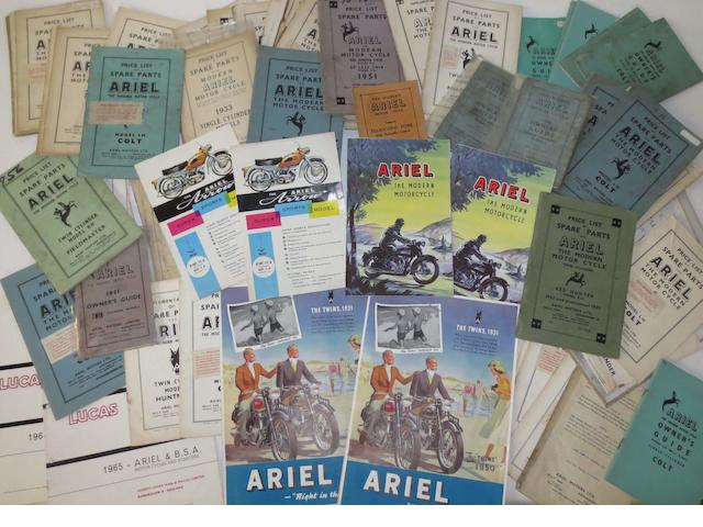 Post-War Ariel sales and technical literature,