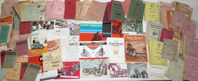 Pre and post-War sales brochures for James and Francis-Barnett,