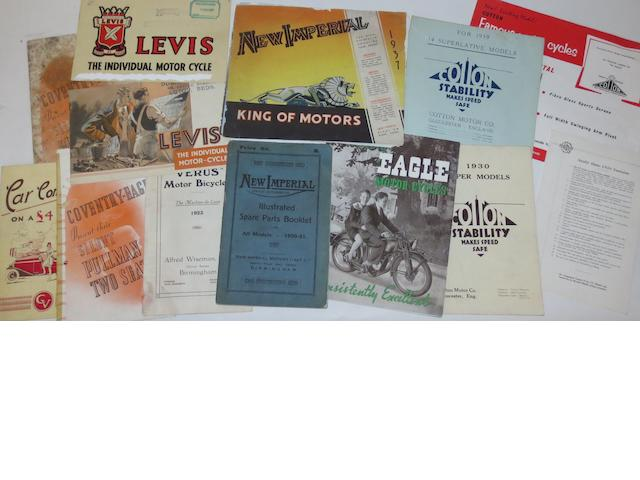 Pre-War British motorcycle sales brochures,