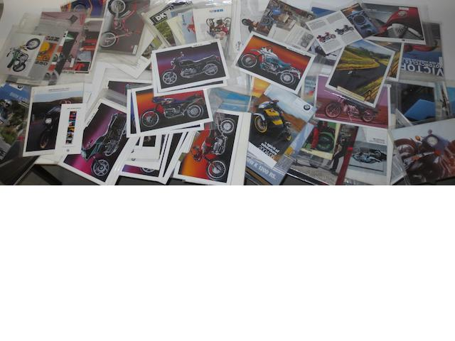 Sales brochures for BMW and other motorcycles,