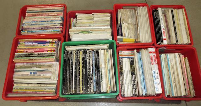 A quantity of Yamaha and Kawasaki technical literature,