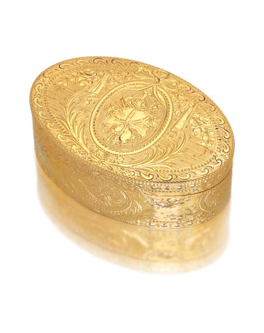 A fine George III gold box by James Morisset, London 1773