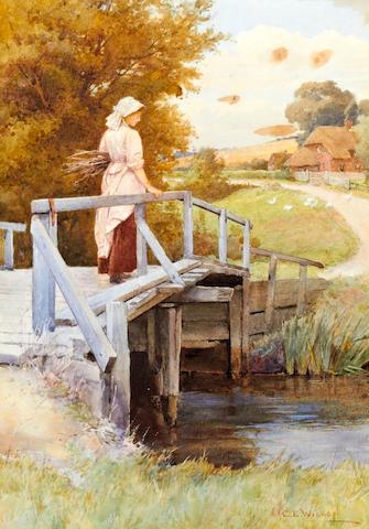 Charles Edward Wilson (British, 1854-1941) 'The Stream Bridge'