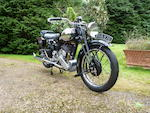 1,586 miles since restoration, the last SS80 to leave the factory with a Works Record Card,1940 Brough Superior 990cc SS80 Special Frame no. M8/2144 Engine no. BS/X4811