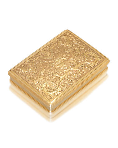 A George II gold snuff box unmarked, circa 1730