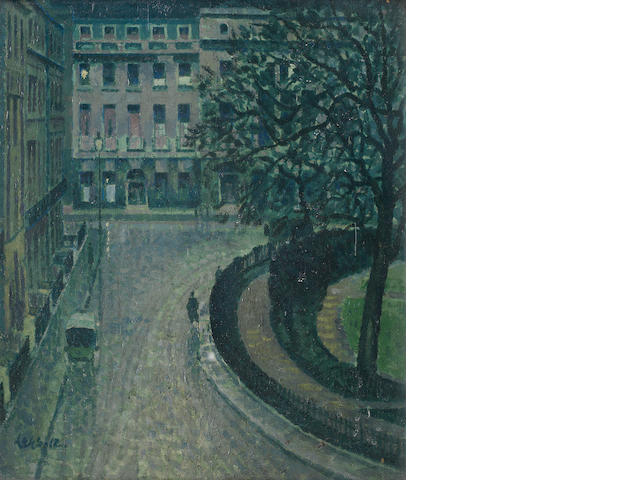 Derwent Lees (British, 1885-1931) Fitzroy Square from Sickert's old studio
