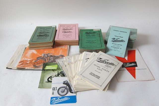 Post-War Velocette sales and technical literature,