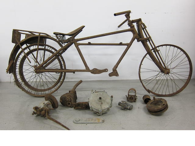 An unidentified Vintage motorcycle project,