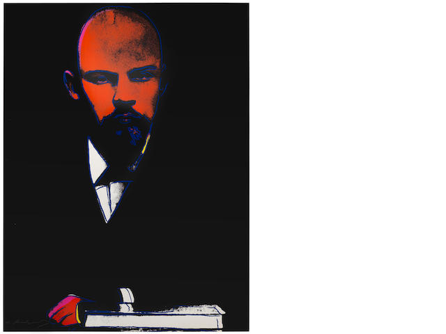 Andy Warhol (American, 1928-1987) Lenin Screenprint in colours, 1987, on Arches 88, signed and inscribed 'PP 1/6' in pencil, a printer's proof aside from the edition of 120, printed by Rupert Jasen Smith, New York, with his blindstamp, published by Galerie Bernd Klüser, Munich, the full sheet, 1000 x 749mm (39 3/8 x 29 1/2in)(SH)