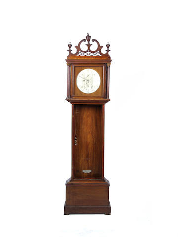 A late 19th century mahogany domestic regulator RN Pickering of London