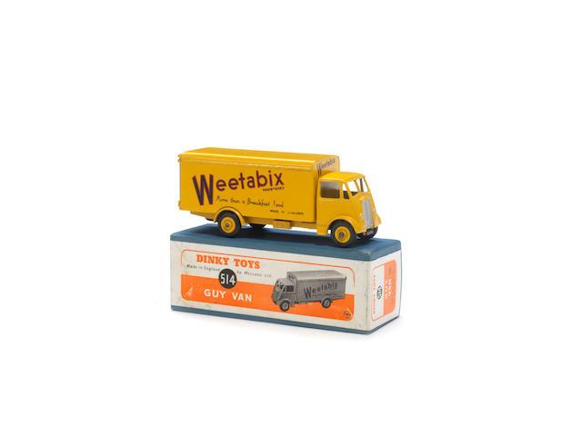 Dinky 514 Weetabix Guy van with ridged hubs