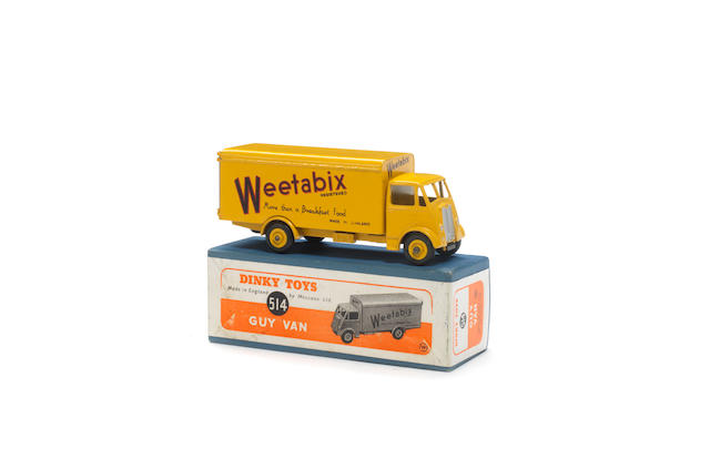 Dinky 514 Weetabix Guy van with ridged hubs