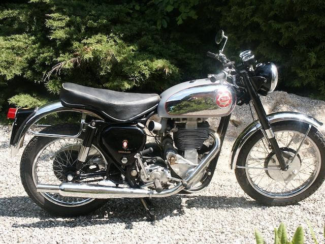 500 kilometres since restoration,1955 BSA 499cc Gold Star Scrambler Frame no. CB32 2975 Engine no. DB34 GS 341