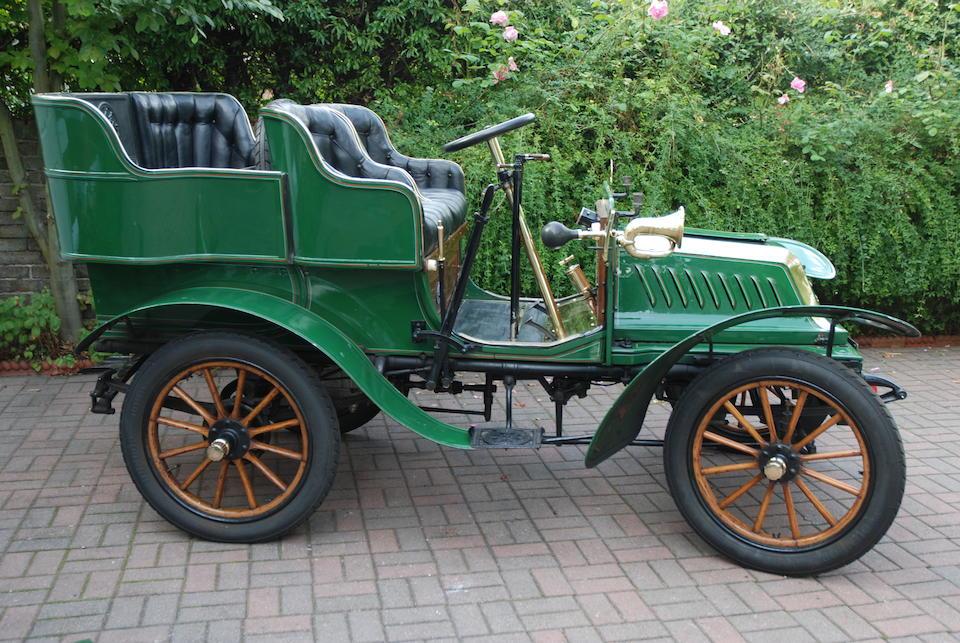 1904 De Dion Bouton 8hp Rear-entrance Tonneau  Chassis no. 78 Engine no. 14225