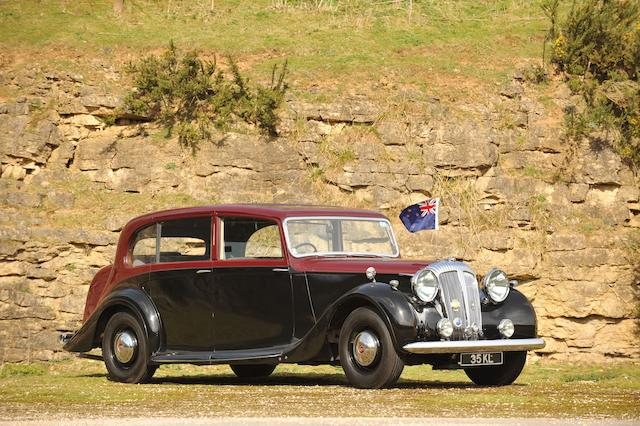Formerly the property of General Sir Bernard Freyberg V.C., Governor General of New Zealand,1946 Daimler DE 27 4,095cc Six-light Limousine Chassis no. 50003 Engine no. 11676