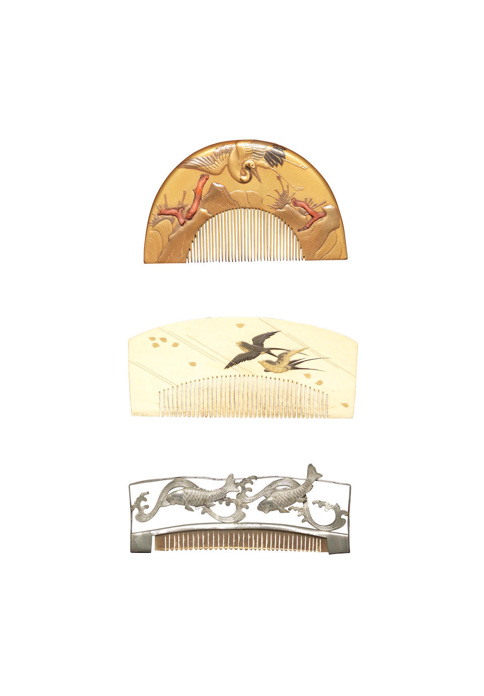 A remarkable study collection of assorted decorative hair accessories for elegant and traditional styling Late 19th/early 20th century
