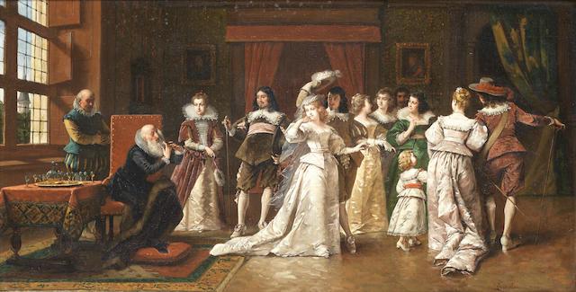 Ladislaus Bakalowicz (Polish, 1833-1904) La lecture du Sonnet