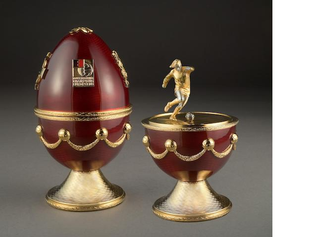 George Best limited edition egg - Sarah Faberge